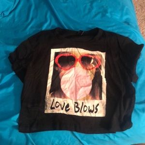 Love blows long crop Tee